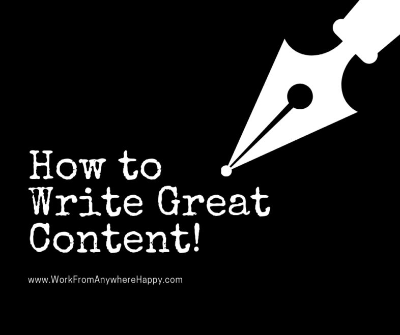 how to write great content for affiliate marketing