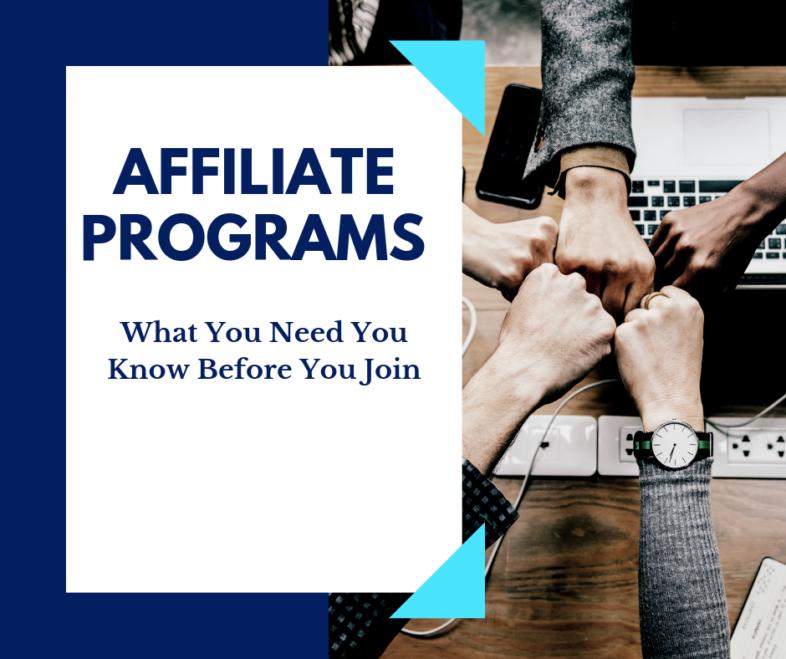 affiliate programs poster